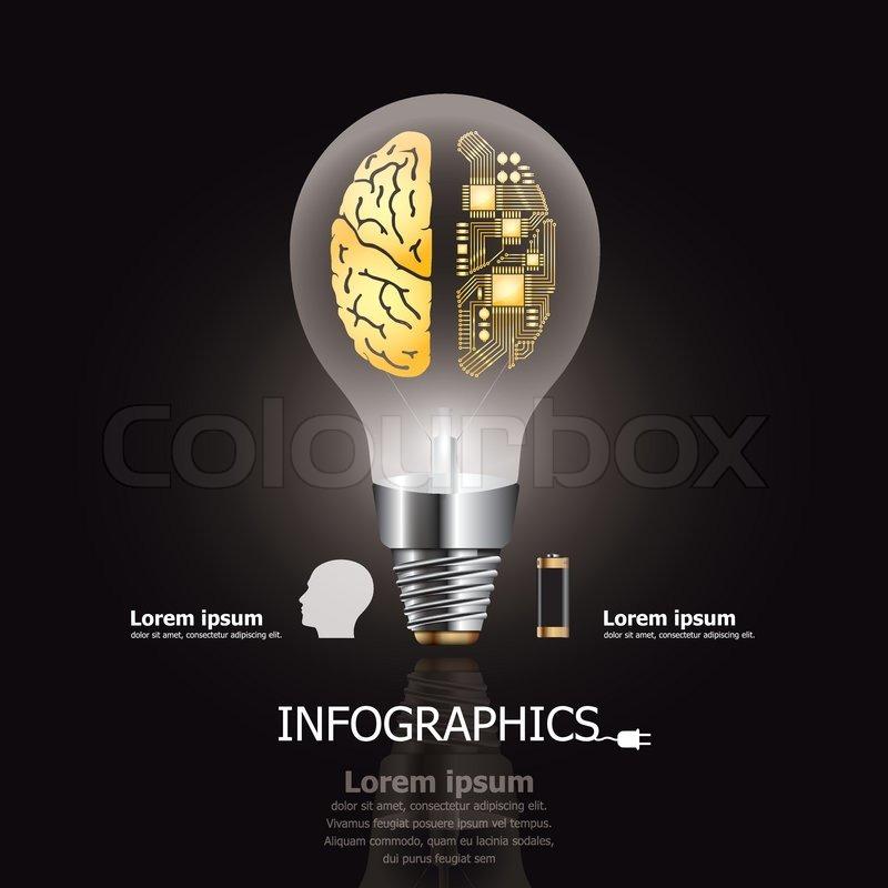 battery light diagram light bulb brain amp electric circuit design template charge light diagram #8