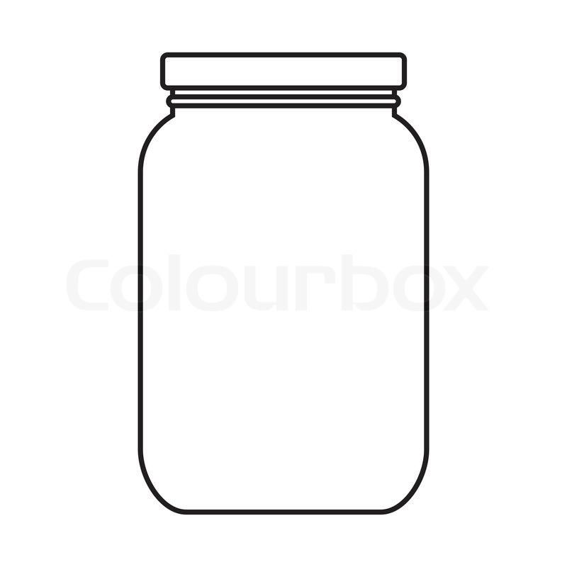 Blank jar with cap isolated on white background | Vector | Colourbox