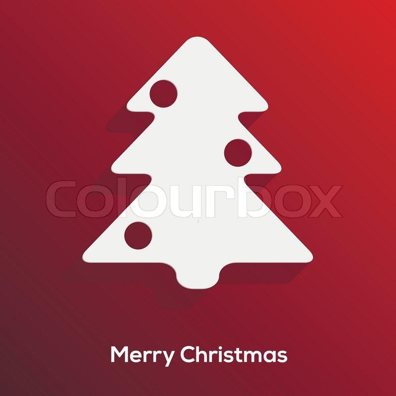 Abstrakte scherenschnitt weihnachtsbaum mit langen for Minimal art zusammenfassung