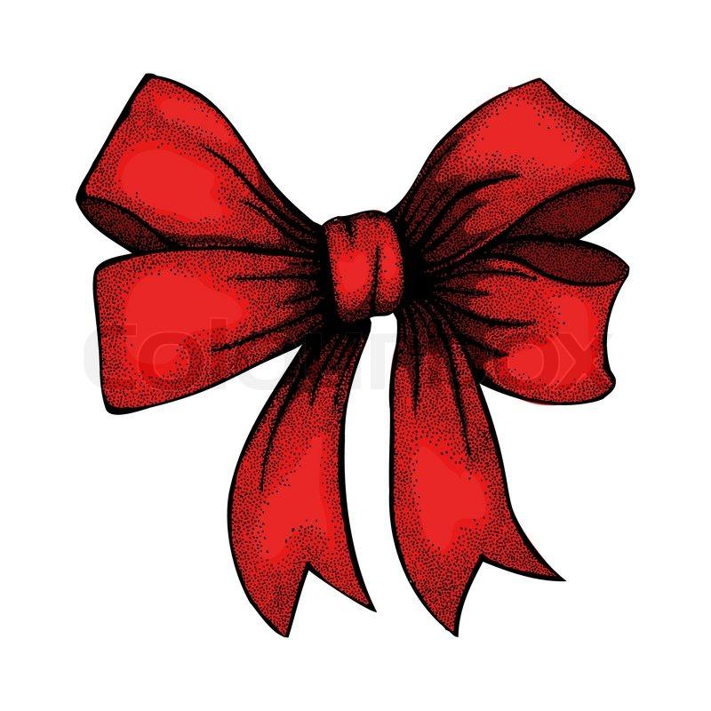 Christmas bow drawing