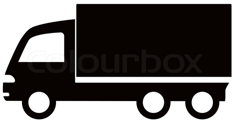 isolated black truck icon cargo symbol stock vector colourbox