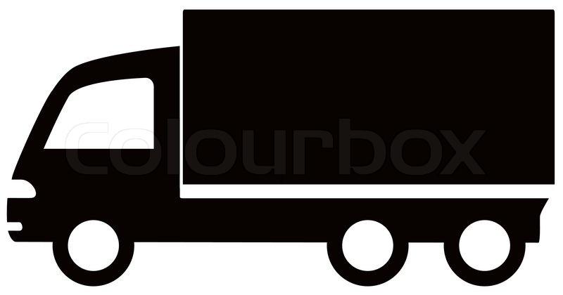 Isolated Black Truck Icon Cargo Symbol Stock Vector Colourbox
