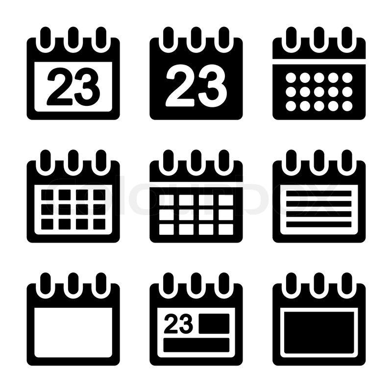 Calendar Icon Vector : Day calendar elements icons set vector eps stock
