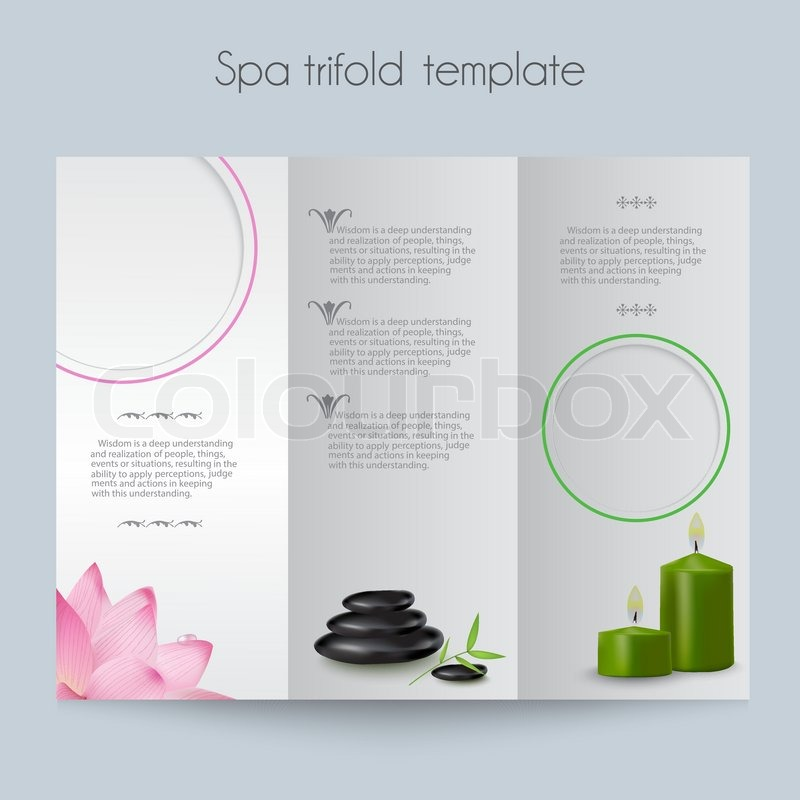 Brochure Booklet Trifold Layout Editable Design Template - Spa brochure templates