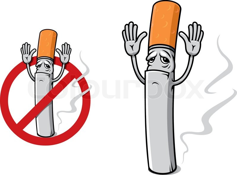 Sad cigarette in cartoon style as a restricted sign stock vector sad cigarette in cartoon style as a restricted sign vector voltagebd Choice Image