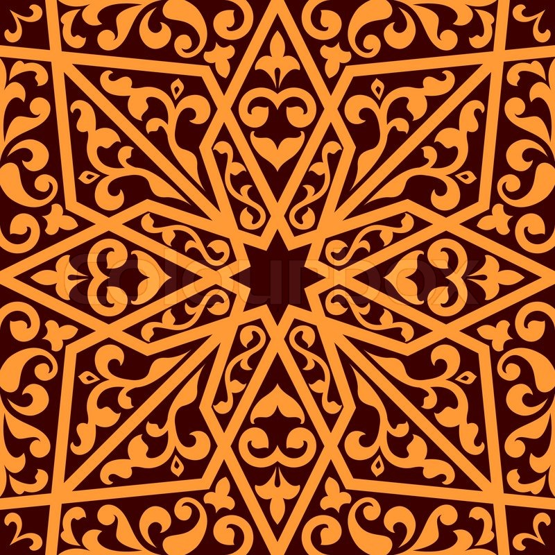 Islamic Or Arabic Seamless Pattern With Elements Of