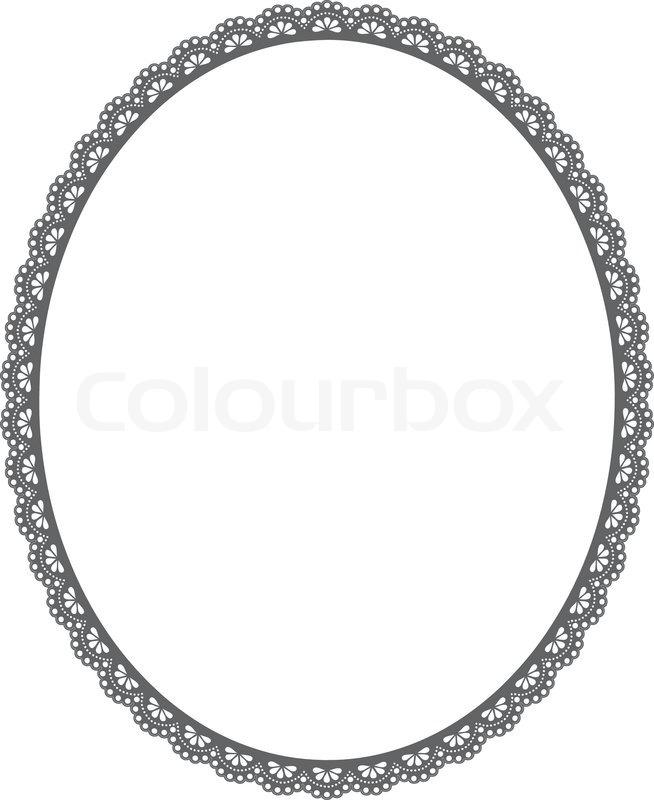 Vector oval frame on white background | Stock Vector | Colourbox