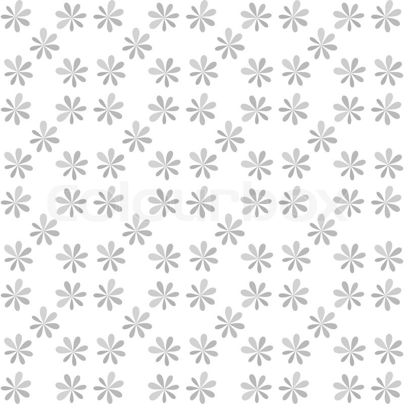 Seamless White Gray Flower For Gift Box Christmas Pattern Texture Background