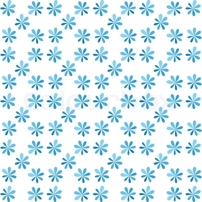 Seamless Blue Flower For Gift Box Christmas Pattern Texture Background