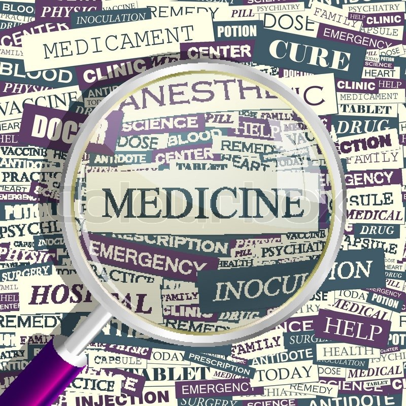 MEDICINE. Concept Related Words In Tag Cloud. Conceptual