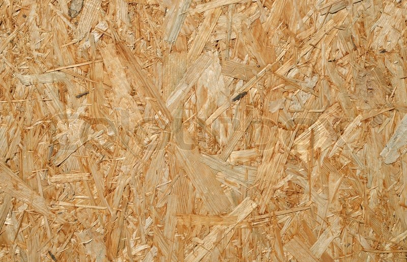 Oriented Strand Board : Background oriented strand board close up stock photo
