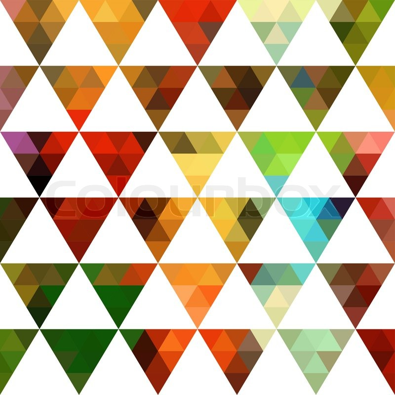 geometric pattern of triangles shapes colorful mosaic