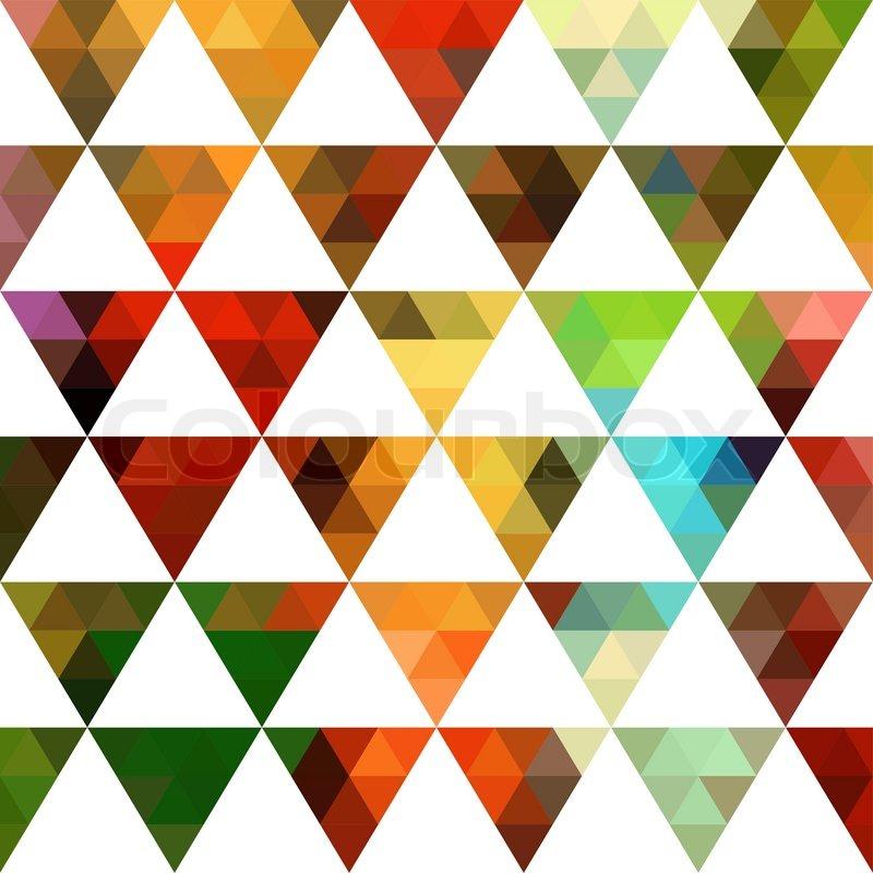 Geometrische Muster Aus Dreiecken Formen Farbenmosaik
