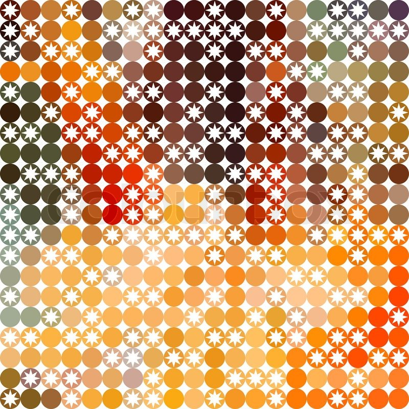 Background Of Repeating Geometric Stars Spectrum Retro Hipster Color