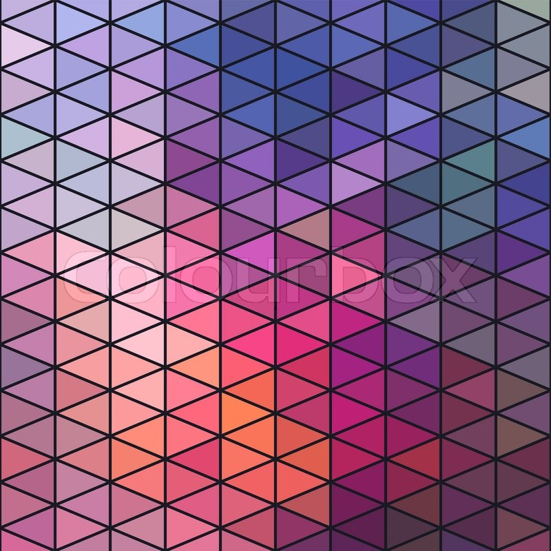 Retro pattern of geometric shapes. Triangle colorful ...