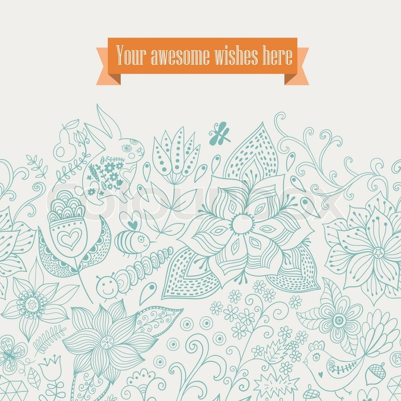 Vektor floral Background. Vintage retro Hintergrund mit floral ornament.You gestalten Karten ...
