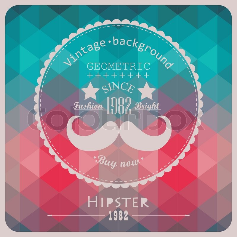 hipster background made of triangles retro label design square
