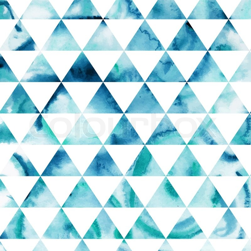 Vector watercolor triangles pattern. Modern hipster ...