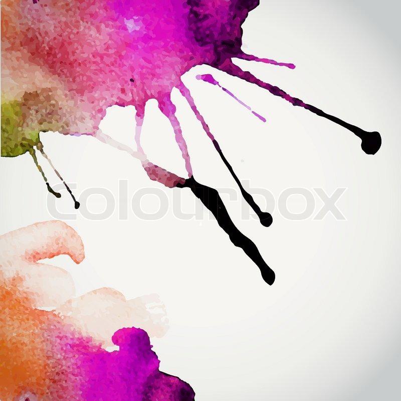 Vektor handgezeichnete aquarell hintergrund vektor for Nass in nass streichen