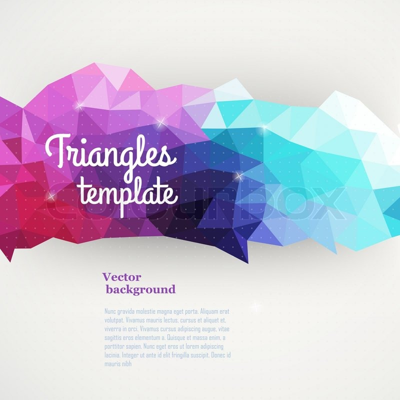 Vector triangle pattern background triangles background