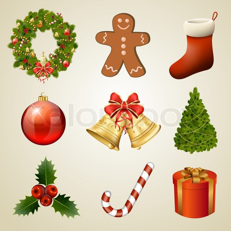 Christmas Design Elements And Icons. ...