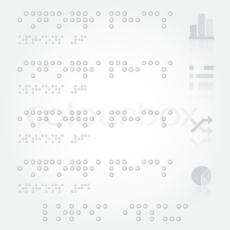 braille infographics design template