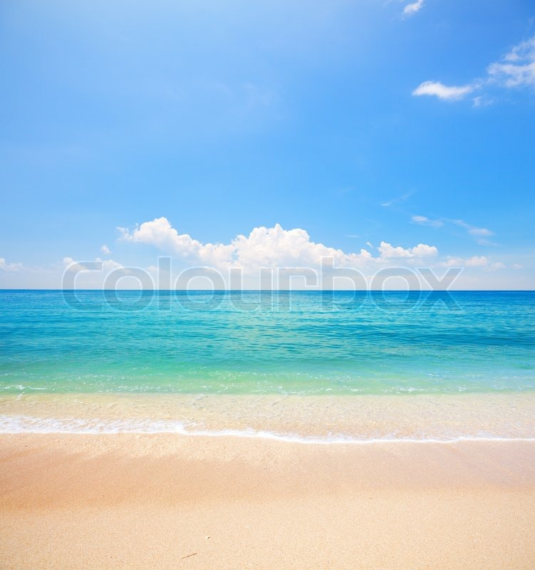 Beach and tropical sea, stock photo