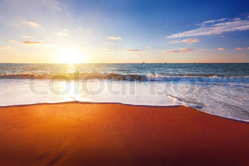 Sunset and sea, stock photo