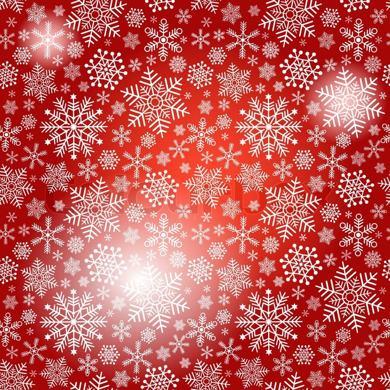 Seamless Red Christmas Pattern With Stock Vector Colourbox
