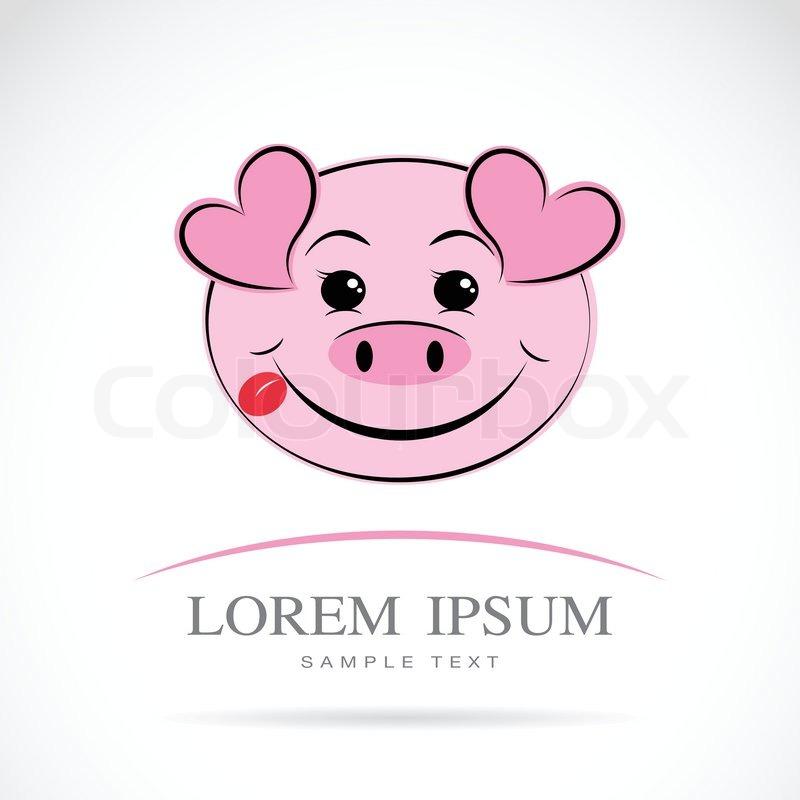 Vektor-Bild von einem Schweinekopf | Vektorgrafik | Colourbox