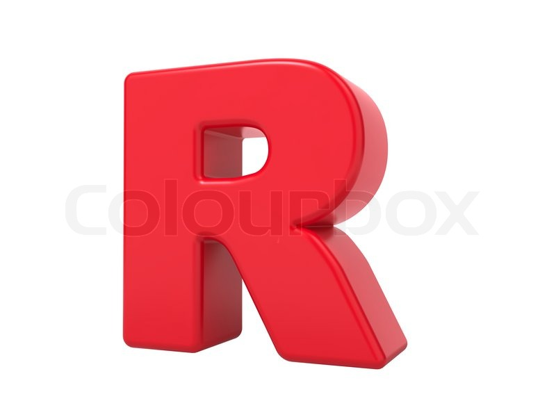 Rote 3d buchstaben r stockfoto colourbox for Mobel 9 buchstaben