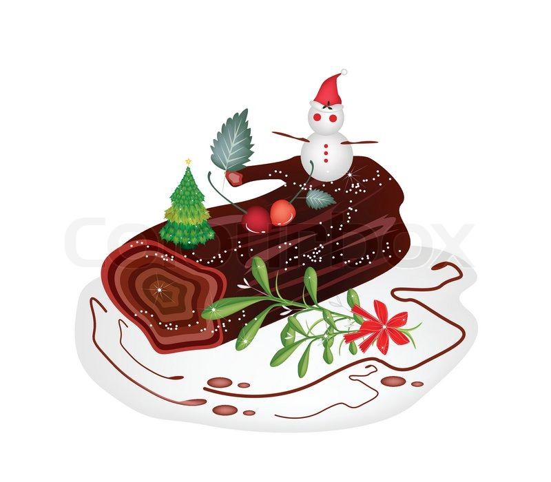 Modele decoration buche de noel