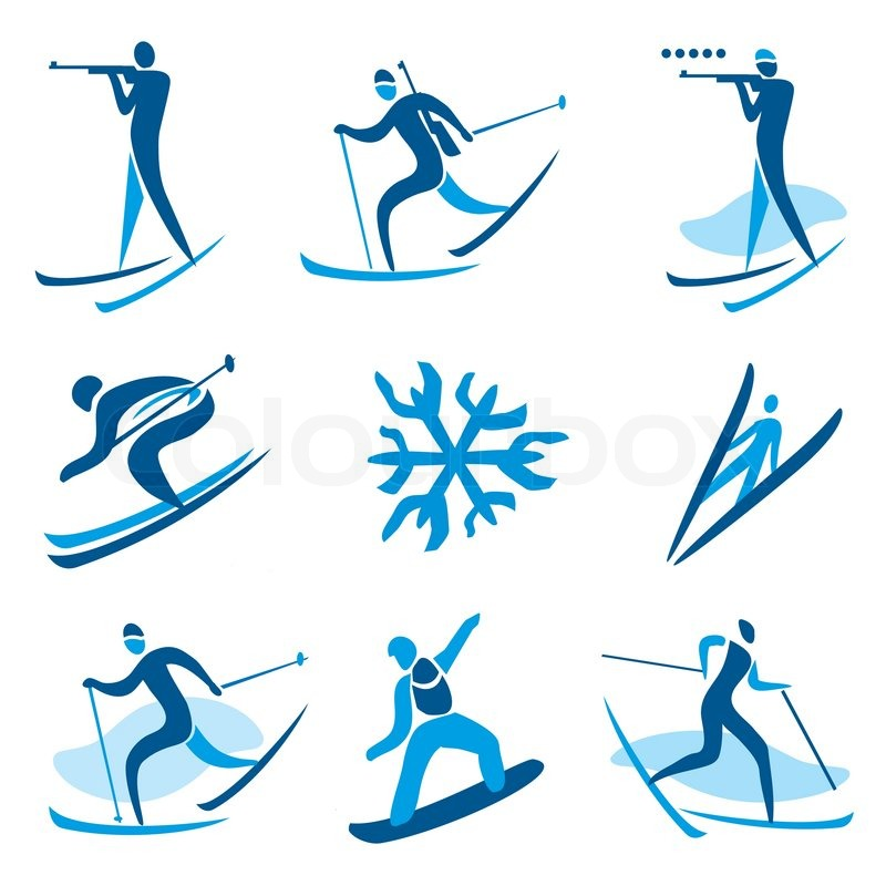 Icons And Symbols Of Winter Sport Activities Vector Illustration