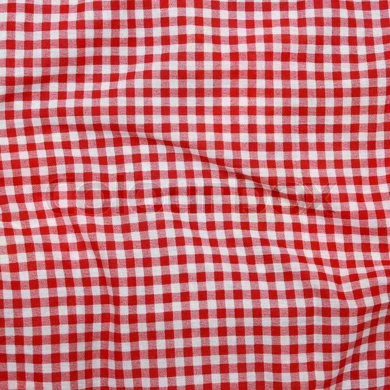 Abstract Background Texture Of A Red And White Checkered
