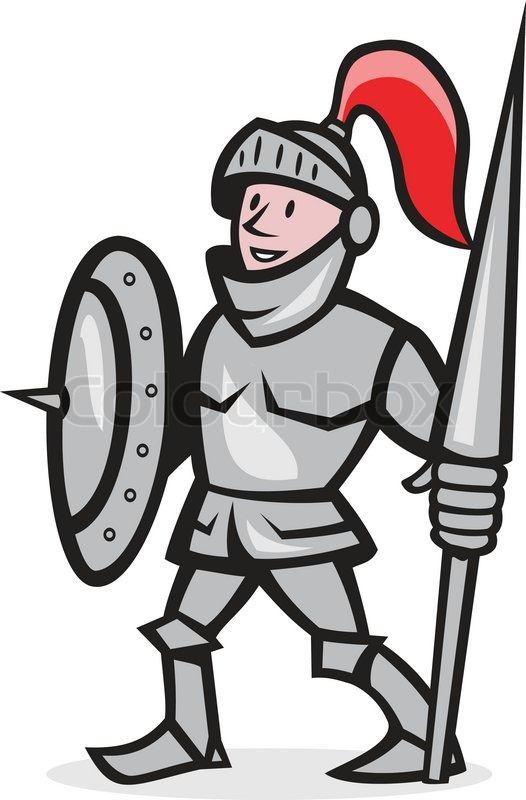 illustration of knight in full armor with lance and shield knights clip art free knights clip art free