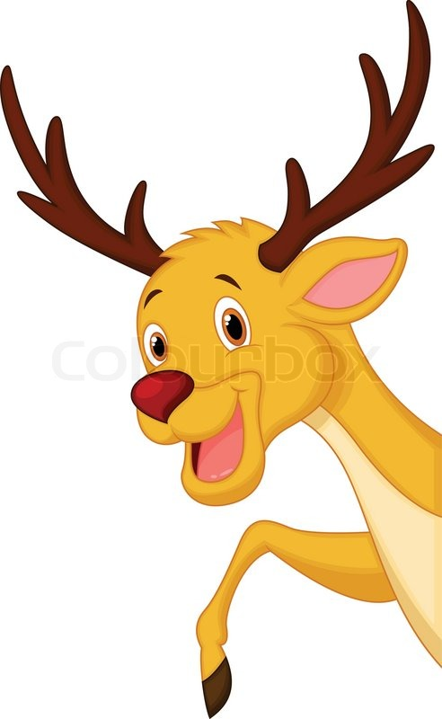 vector illustration of cute deer head cartoon stock vector colourbox rh colourbox com cartoon picture of deer head cartoon deer head step by step