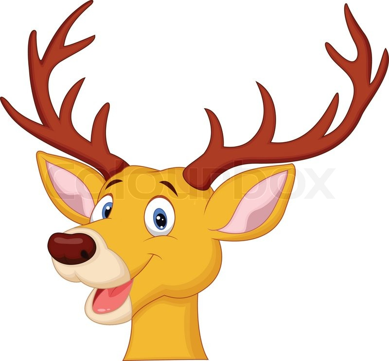 vector illustration of cute deer head cartoon stock vector colourbox rh colourbox com cartoon deer head drawing cartoon deer head clip art