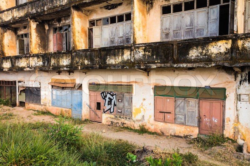 Colonial Ruin In Vientiane Laos Stock Photo Colourbox
