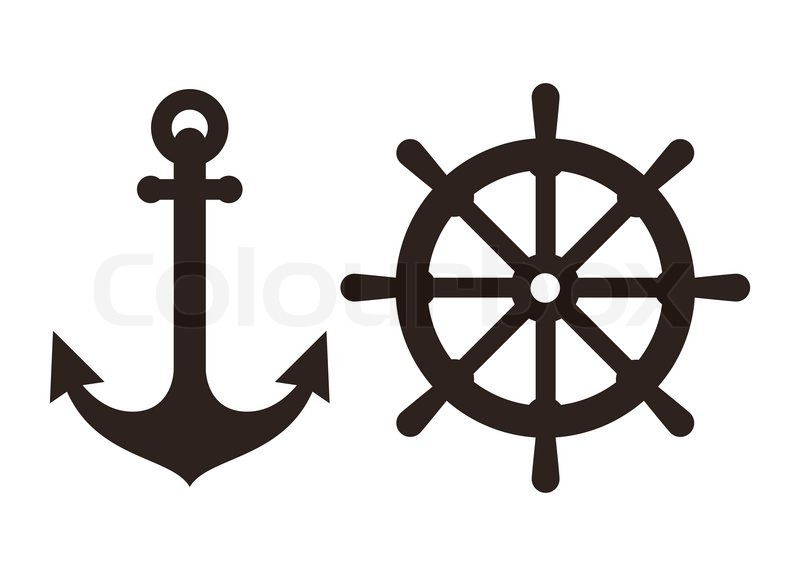 Anchor and Rudder sign...