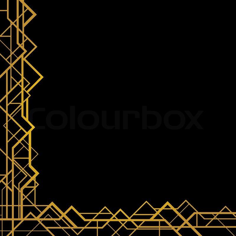 Art deco geometric pattern 1920 s style stock vector colourbox - Art Deco Geometric Frame 1920 S Style Stock Vector