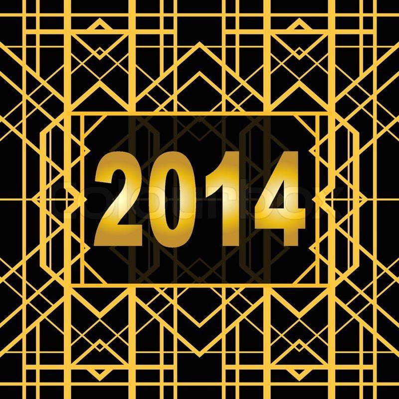 Art deco geometric pattern 1920 s style stock vector colourbox - Art Deco Geometric Pattern 1920 S Style For New Year