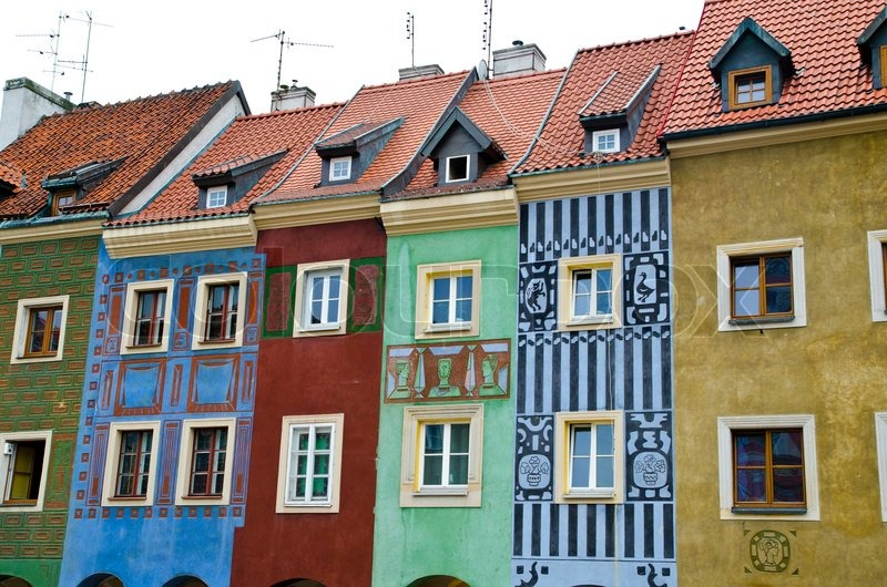 Old european houses in poland stock photo colourbox for Europian house