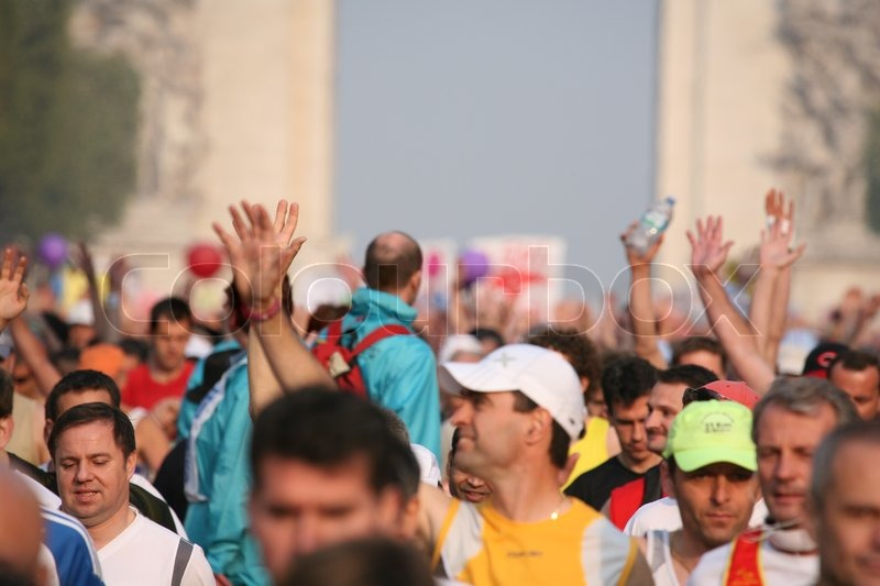Editorial image of 'People taking part in a marathon'