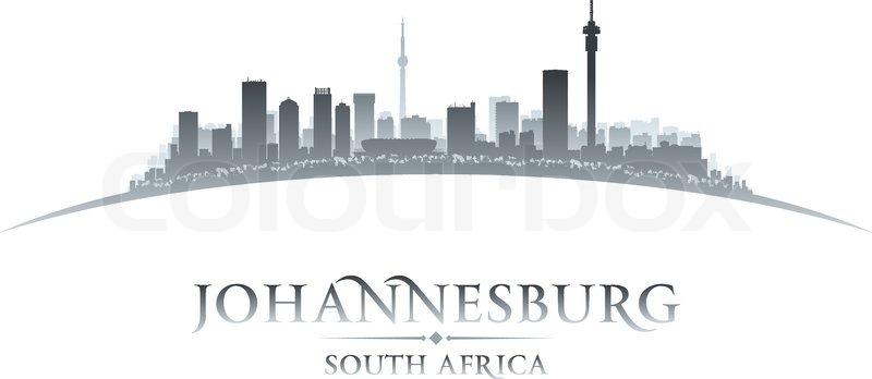 Johannesburg south africa city skyline silhouette vector johannesburg south africa city skyline silhouette vector illustration vector altavistaventures Images