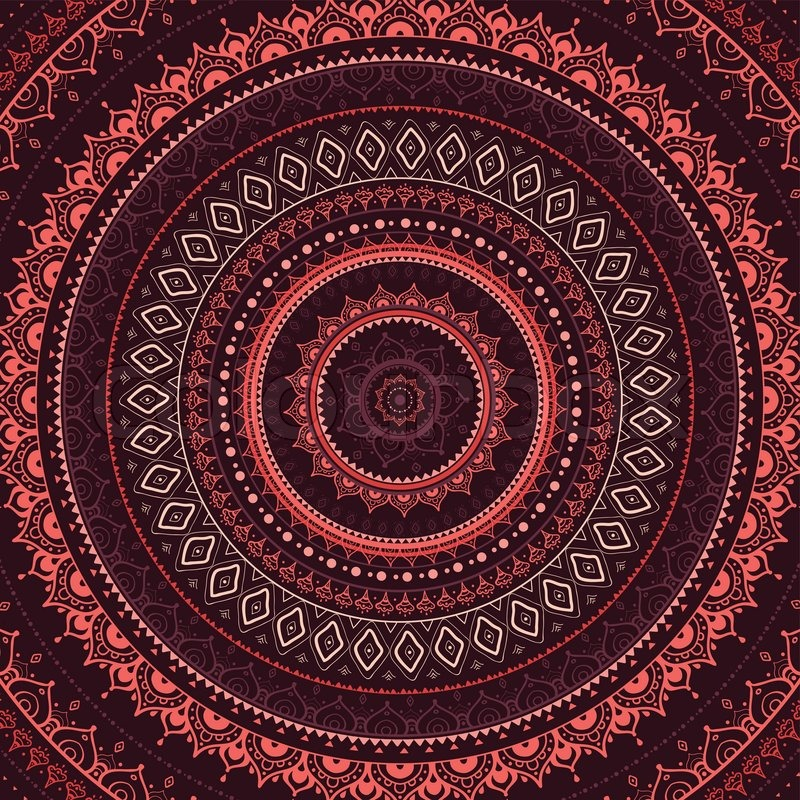 Vector vintage background. Mandala. Indian decorative ...