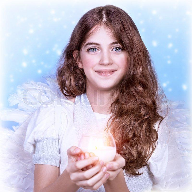 Süße Engel Mädchen Stockfoto Colourbox