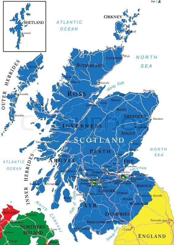 karte schottland Schottland Karte | Vektorgrafik | Colourbox