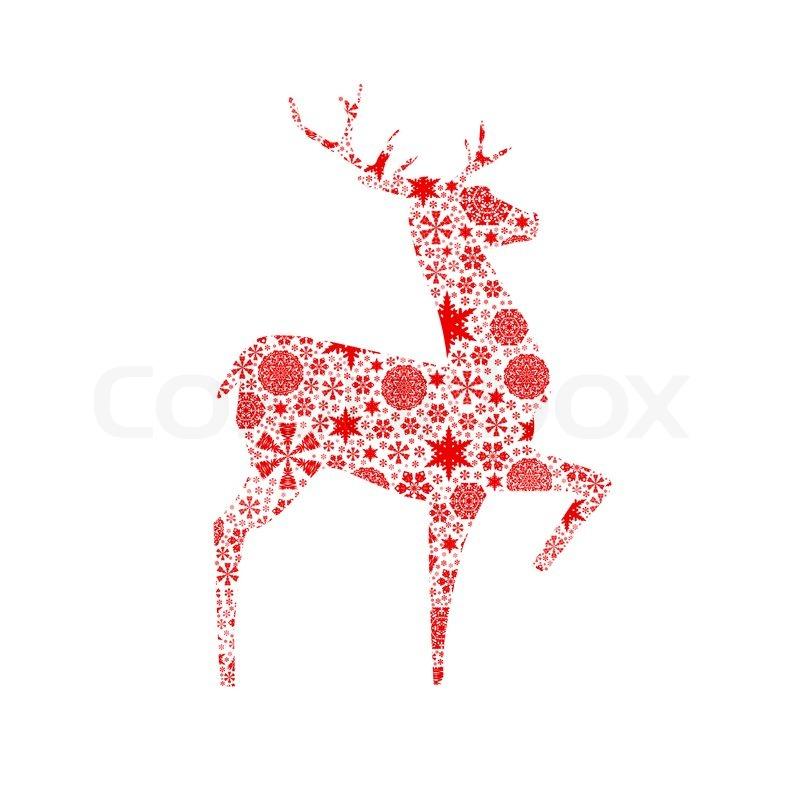 silhouette hirsch weihnachtskarte stockfoto colourbox. Black Bedroom Furniture Sets. Home Design Ideas