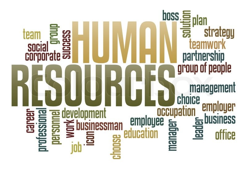 Human Resources in word collage | Stock Photo | Colourbox