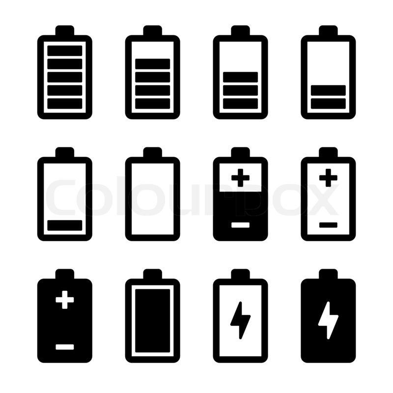 Symbole Batteriesatz | Stockfoto | Colourbox